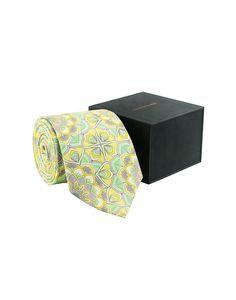 Lemon & Sea Green Silk Tie - Tie - Shop By Product - Fashion Accessories