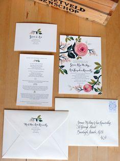 wedding invitation pieces.