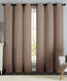 Taupe Lawrence Geo Jacquard Panel - Set of Two