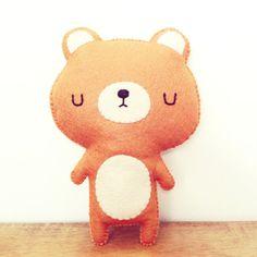 bear plush - bear stuffed toy - kawaii bear plushie