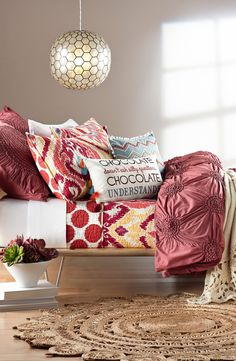 This playful bedding lends a shabby-chic aesthetic to any stylish abode.