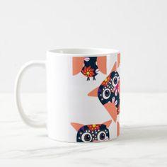 Owls pattern 2v coffee mug