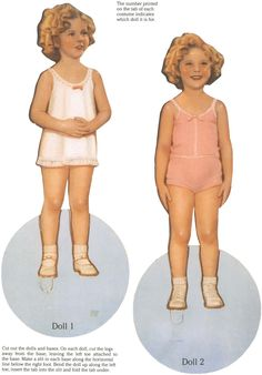 Original Shirley Temple Paper Dolls from The Children's Museum - Dover Publications, Inc., 1988: Dolls - Page 1 (of 2)