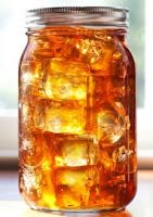 "This sweet tea recipe reveals a ""secret ingredient""! For every gallon of tea made, add 1/4 tsp of baking soda."