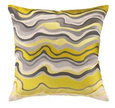 Trina Turk Waterflow Embroidered Pillow, Citron