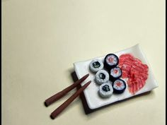 Polymer clay sushi tutorial - YouTube