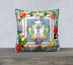 Vintage Botanical, Floral Cushion, Blue and White, Roses, Urn, Velveteen, Throw Pillow, Cushion Cover, Sofa Cushion, French Country Style Floral Cushions, Colourful Cushions, Cushions On Sofa, Throw Pillows, Large Cushion Covers, Cushion Cover Designs, Luxury Cushions, French Country Style, Cotton Pillow
