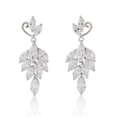 Love these cascading earrings for a touch of old Hollywood glamour!