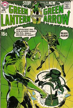 Green Lantern (co-starring Green Arrow) #76 Cover by Neal Adams
