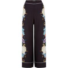Biba Wide Leg Printed Pant ($90) ❤ liked on Polyvore featuring pants, women trousers, wide leg trousers, biba and wide leg pants