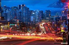 7. City lights at Cambie and Broadway (Image by Clayton Perry)