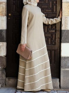 SHUKR's long dresses and abayas are the ultimate in Islamic fashion. Hijab Fashion 2016, Abaya Fashion, Modest Fashion, Muslim Dress, Hijab Dress, Maxi Dresses, Long Dresses, Moslem Fashion, Mode Abaya