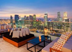 View from Marina Bay Sands Hotel, Singapore