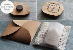 How to Make Wood Slice Save the Date Magnets for a #Rustic or #Woodland Inspired #Wedding {ahandcraftedwedding.com}