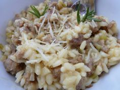 Cookin' Cowgirl: Sausage and Rosemary Risotto