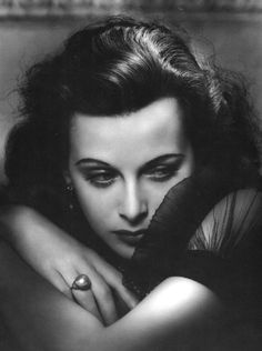 Hedy Lamarr, 1938. Wish I could have met her, just to shake her hand and say thanks. What a dynamo!