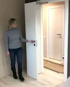 Home Discover Creative bedroom door idea maximize space for small room - New ideas Luxury Interior Interior Architecture Interior Design Interior Door Styles Interior Ideas Home Design Design Ideas Space Saving Doors Maximize Space Room Door Design, Door Design Interior, Home Room Design, House Design, Luxury Interior, Interior Ideas, Space Saving Doors, The Doors, Small Doors