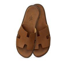 e534264676a Izmir Leather Sandals Hermes men s leather sandal in gold calfskin