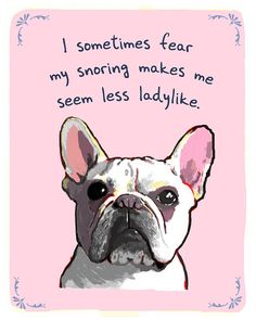 I pinned this Snoring French Bulldog Print from the Reigning Cats & Dogs event at Joss and Main I Love Dogs, Puppy Love, Cute Dogs, Funny Animals, Cute Animals, Wild Animals, Oui Oui, Baby Dogs, Doggies