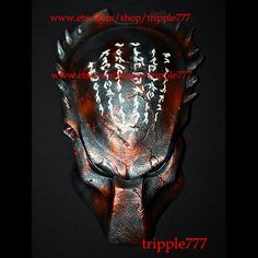 1:1 Full Scale Replica Predator mask, Predator costume, Predator helmet, Home decor, Wall mask, Halloween mask, Steampunk mask AVP PD14
