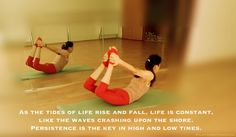 As the tides of #life rise and fall, life is constant, like the waves crashing upon the #shore. #Persistence is the key in high and low times. #pilates #mat #matexercise #the rocking #love
