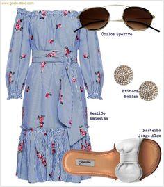 Looks com vestidos casuais para um fim de semana ensolarado #moda #estilo #tendência #fashion #fashionblog #modamujer #modafeminina #streetstyle #streetfashion #streetwear #modaderua #estiloderua #outfitt #ootd #outfitoftheday #outfitideas #outfits #looks #lookoftheday #lookdodia #look #modacasual Chic Outfits, Summer Outfits, Fashion Outfits, Womens Fashion, Comfy Casual, Casual Looks, Hijab Styles For Party, Outing Outfit, Moda Casual