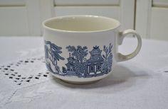 Churchill Blue Willow Jumbo Mug Blue and White Asian Design England Vintage Soup Breakfast Mug Panchosporch