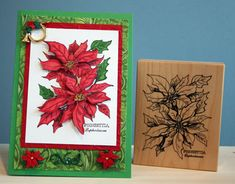 Cards Made with Nestabilities | Make it 3-D - Poinsettia Christmas Card