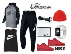 """Hemerson Alo NIKE"" by sol-sarmiento ❤ liked on Polyvore featuring NIKE, men's fashion and menswear"