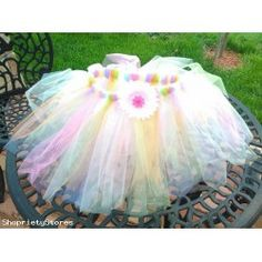 Hand Made TUTU Skirt Easter Colors With Flower (Auction ID: 136750, End Time : Sep. 06, 2013 09:01:45) - Shopriety Stores