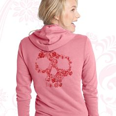 LADIES FLORAL SKULL HOODIE One-color PDI Clothing logo screen printed on left chest. One-color Floral Skull image screen printed on back. This 9-ounce 100% French terry cotton classic hoodie is designed with a two-way zipper. Available at www.pdiclothing.com  Sizes: XS – 4XL. Available Colors: Charcoal Grey, Pink  Price: $34.99