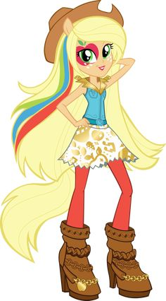 Equestria Girls Rainbow Rocks AppleJack Vector