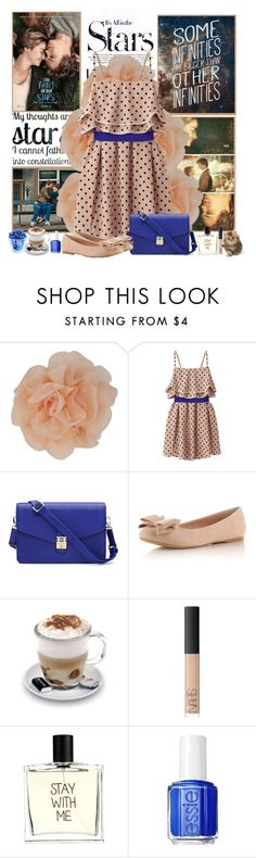 """""""The Fault In Our Stars"""" by irena123 ❤ liked on Polyvore featuring Karl Lagerfeld, Forever 21, Uniqlo, Aroma, NARS Cosmetics, Liaison De Parfum, Essie, Blue, brown and thefaultinourstars"""