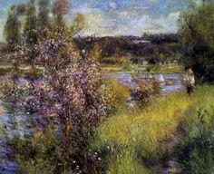 Tableaux sur toile, reproduction de Renoir, La Seine à Chatou