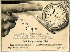 1900 Ad Elgin National Watch Company advertisement touting its famed Ruby Jeweled Timepiece