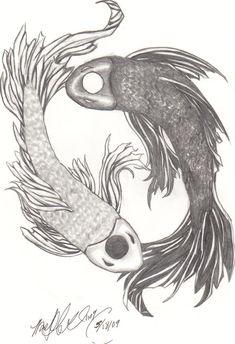 Yin Yang Koi Fish by Gothcat0522