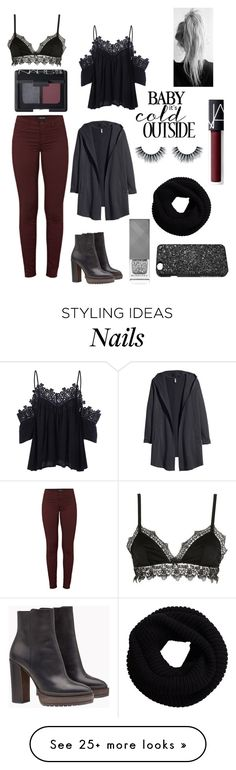 """""""Winter"""" by r-bye on Polyvore featuring Ermanno Scervino Lingerie, J Brand, NARS Cosmetics, Victoria's Secret, Brunello Cucinelli, H&M and Burberry"""