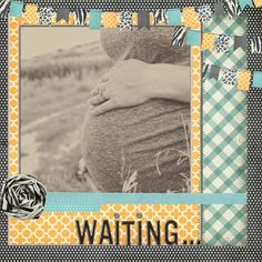 Scrapbook page- I still haven't done Jayda's maternity pages so this will be one of my next projects.