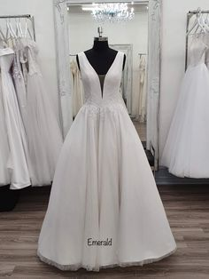 A stunning gown with a glittery look to it and half corset back Bella Wedding Dress, Bella Bridal, One Shoulder Wedding Dress, Deb Dresses, Bridal Dresses, Bridal Collection, Corset, Bridesmaid, Gowns