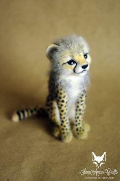 Cheetah cub by SaniAmaniCrafts.deviantart.com on @DeviantArt