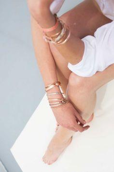 BUBBLE Armreif rosé vergoldet Bubble, Bracelets, Gold, Jewelry, Fashion, Gemstone Earrings, Bangle, Bangles, Jewlery