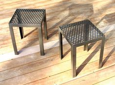 Hand Made. Perforated Drop Table/Stool by RAD | Green Home Decor and Furnishings