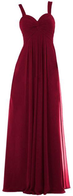 burgundy straps empire floor length prom bridesmaid dresses 2016 for women Burgundy Bridesmaid Dresses Long, Designer Bridesmaid Dresses, Wedding Bridesmaid Dresses, Wedding Gowns, Prom Dresses, Formal Dresses, Bridesmaids, Dresses 2016, Long Dresses