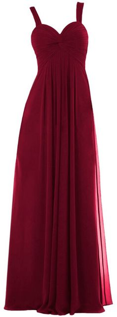 burgundy straps empire floor length prom bridesmaid dresses 2016 for women