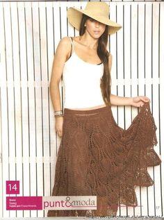 Brown Pineapple Skirt free crochet graph pattern