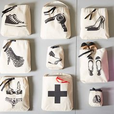 Bag-all 8-Piece Hers Organizing Bag Set - Favorite flats, phone charger, and little necessities-whatever you're carrying, these cheeky and charming bags keep all your essentials stylishly stowed.