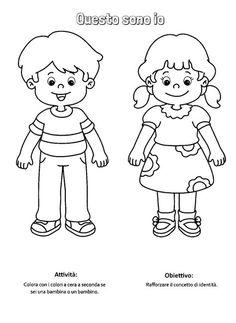 Bambina Grembiulino Da Colorare Scuola Bambini Da Colorare
