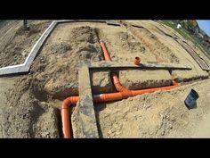"""Jak wybudować dom - """" Jak zrobić kanalizację poziomą oraz wypusty pod elektrykę """" - YouTube"""