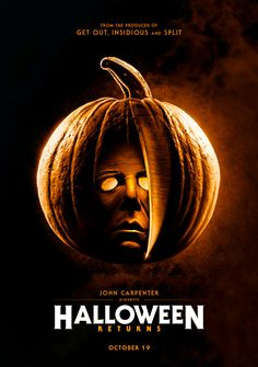 Last year's most anticipated horror film was IT and this year's is no doubt David Gordon Green's Halloween, headed our way in October. In fact, many fans a Halloween Film, Halloween 2018, Halloween Series, Halloween Season, Halloween Ideas, Slasher Movies, Horror Movie Characters, Horror Movie Posters, Michael Myers