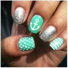 Summer nails so cute. i want to do this =)